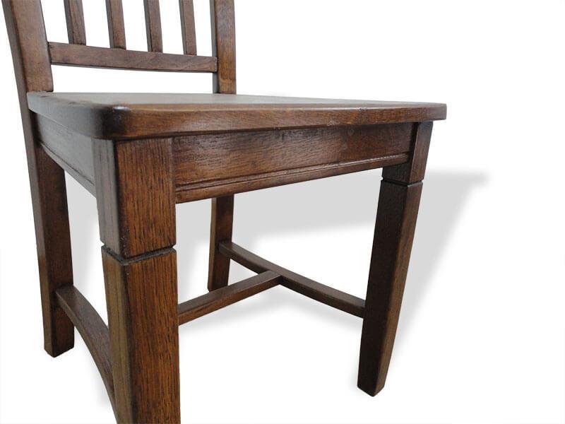 scaun Dijon din stejar masiv - vedere sezut