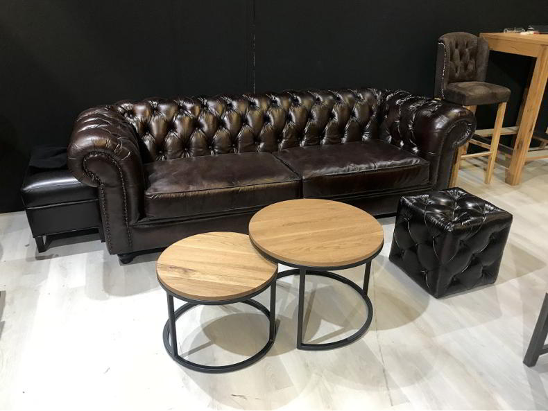 Canapea Chesterfield Pouf Chesterfield